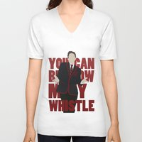 glee V-neck T-shirts featuring Hunter Clarington - Whistle - Nolan Gerard Funk - Glee - Minimalist design by Hrern1313