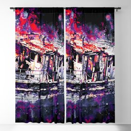 old ship boat wreck ws fn Blackout Curtain