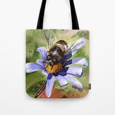 Bee on flower 18 Tote Bag