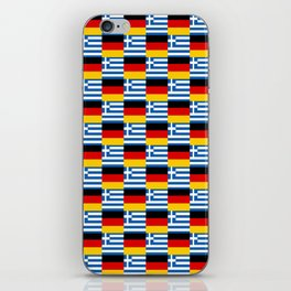 Mix of flag : Germany and greece iPhone Skin