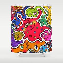 Jigsaw Germs Shower Curtain