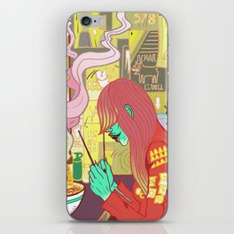Raspberry the Vampire girl iPhone Skin