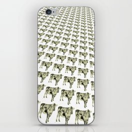 Cows in a row pattern iPhone Skin