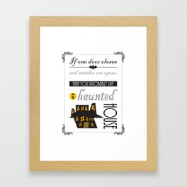 Funny Haunted House Halloween Framed Art Print