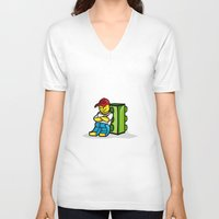dreamer V-neck T-shirts featuring Dreamer.... by Curtis Sarapuk