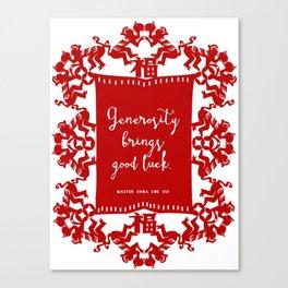 Generosity Canvas Print