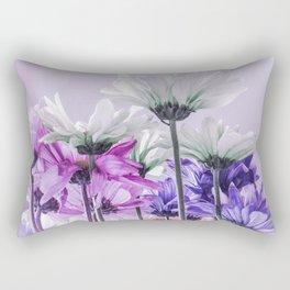Purple Lavender Flowers Rectangular Pillow