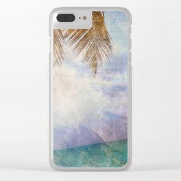 Caves & Palms Clear iPhone Case