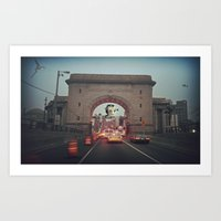 AT=ST on Canal Art Print