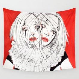 Carnival Clowns Wall Tapestry