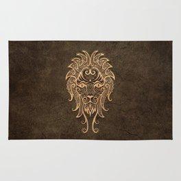 Vintage Rustic Leo Zodiac Sign Rug