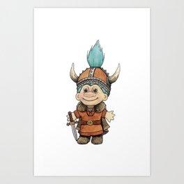 Vikingtroll Art Print
