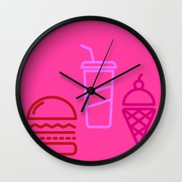 junk has yum Wall Clock