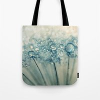 sparkles Tote Bags featuring Drops & Sparkles by Sharon Johnstone