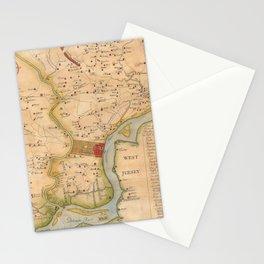 Vintage Map of Philadelphia Pennsylvania (1750) Stationery Cards
