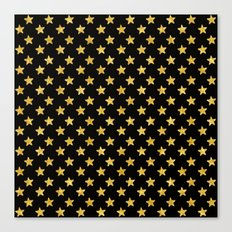 Chic Glam Gold and Black Stars Canvas Print