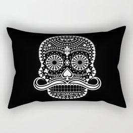 Black Skull  White Suits Rectangular Pillow
