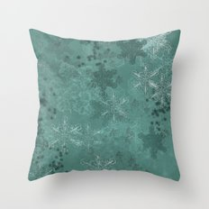 Snowflake Chrismas design Throw Pillow