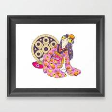 Licorice Lady Framed Art Print