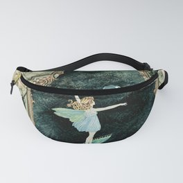 Bubble Romp ~ Altered Ida Rentoul Outhwaite Fairy in Vintage Frame  Fanny Pack