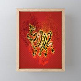 Drachen Framed Mini Art Print