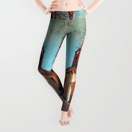 The village church of Waxenberg Leggings
