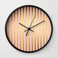 bisexual Wall Clocks featuring Striped by Better HOME