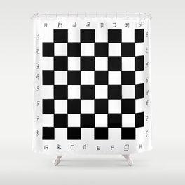 chessboard 1 Shower Curtain