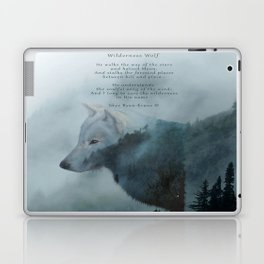Wilderness Wolf & Poem Laptop & iPad Skin