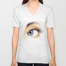 An eye Unisex V-Neck