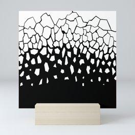 White Fragments Invert Mini Art Print