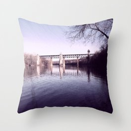 Muted Morning Throw Pillow