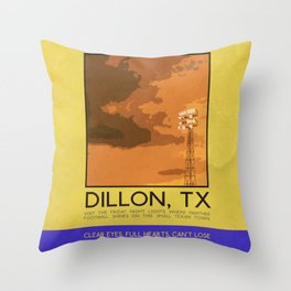 Silver Screen Tourism: DILLON, TX / FRIDAY NIGHT LIGHTS Throw Pillow