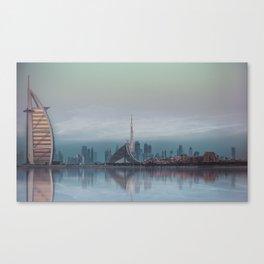 BLUE SKYLINE DUBAI Canvas Print