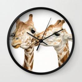 Smooches (Square Format) Wall Clock