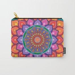 Lotus Rainbow Mandala Carry-All Pouch