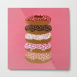 Stacked Donuts on Cherry Metal Print