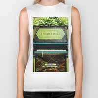 piano Biker Tanks featuring Piano by lenomadecom