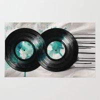 vinyl Area & Throw Rugs featuring infinity vinyl by Vin Zzep