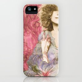 Maria Rita - Study for a portrait iPhone Case