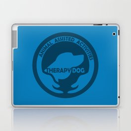 Animal Assisted Activities  - THERAPY DOG logo dog help Laptop & iPad Skin