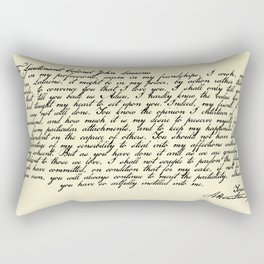 Alexander Hamilton Letter to John Laurens Rectangular Pillow