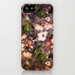 Magnolias and Hummingbirds iPhone Case