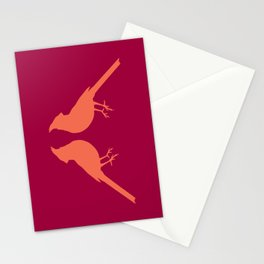 facing cardinals (color) Stationery Cards