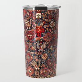 Qashqa'i Fars Southwest Persian Nomad Rug Print Travel Mug