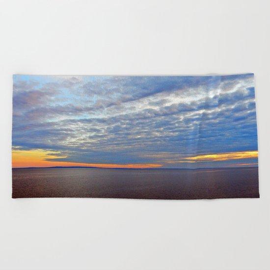 Northumberland Strait at Dusk Beach Towel