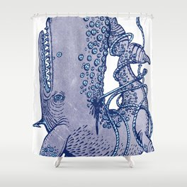 Moby Pick Shower Curtain
