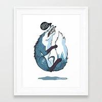 fierce Framed Art Prints featuring Fierce by Carlos Anguis
