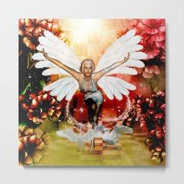 Wonderful fairy with swan Metal Print