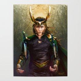 Loki- Golden Sunburst Poster